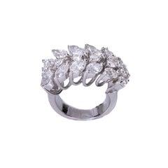 5 Carat Total Diamond Ring Band, 18 Karat Gold