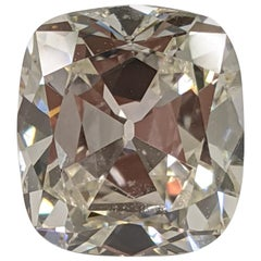 5 Carat Vintage Style Cushion Cut Diamond for High Design Project, GIA