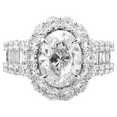5 Carat White Diamond Ring