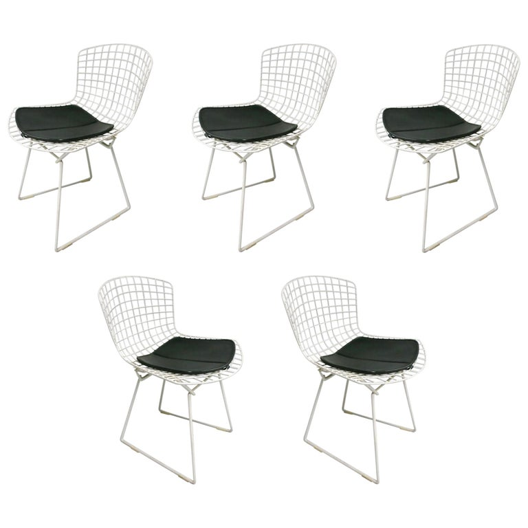 5 Chairs by Harry Bertoia for Knoll, circa 1975 For Sale