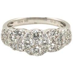 5-Circle Shape Diamond Fashion Ring