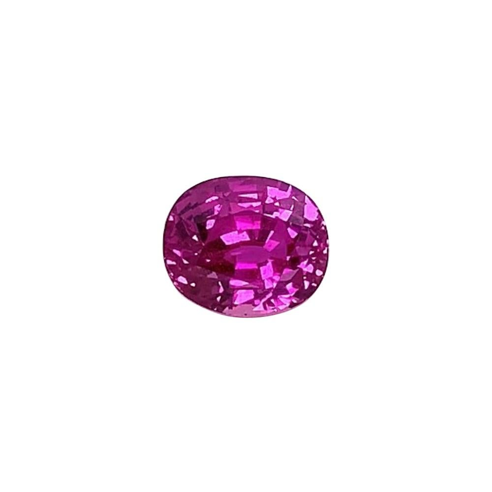 5 Ct. Purple Pink Sapphire, GIA, Unset Loose 3-Stone Engagement Ring Pendant Gem