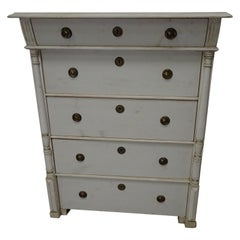 5 Drawer Swedish Gustavian Tall Chest
