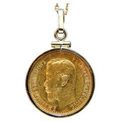5 Ducat Coin Pendant 22 Karat, 1898
