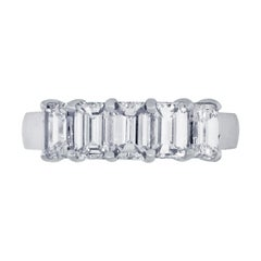 5 Emerald Cut Diamond Band