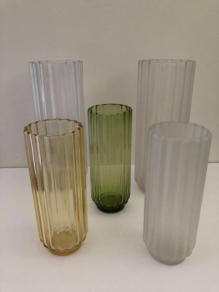 American 5 George Sakier Art Deco Vases, 1930s For Sale