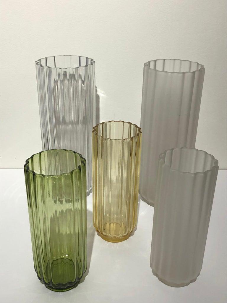 5 George Sakier Art Deco Vases, 1930s In Good Condition For Sale In Westport, CT
