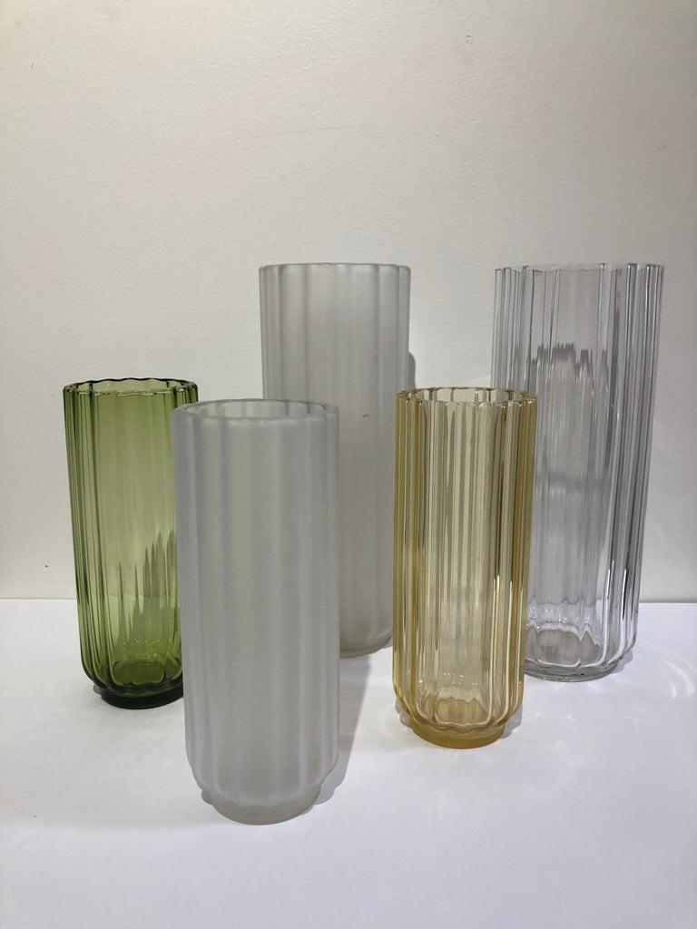 20th Century 5 George Sakier Art Deco Vases, 1930s For Sale