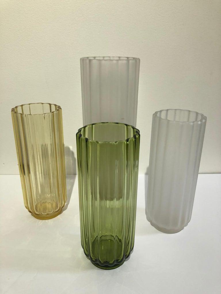 Blown Glass 5 George Sakier Art Deco Vases, 1930s For Sale