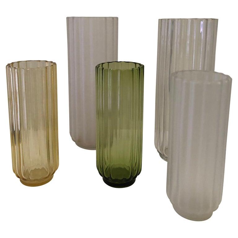 5 George Sakier Art Deco Vases, 1930s For Sale