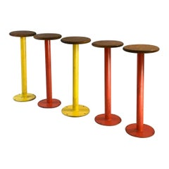 5 High Stools Attributed to Jean Prouvé