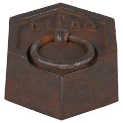 5 Kilogram Iron Scale Weight, France, Early 1900s