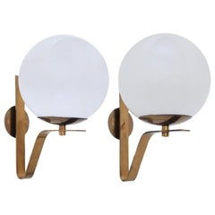 '5' Large Italian Globe Sconces II