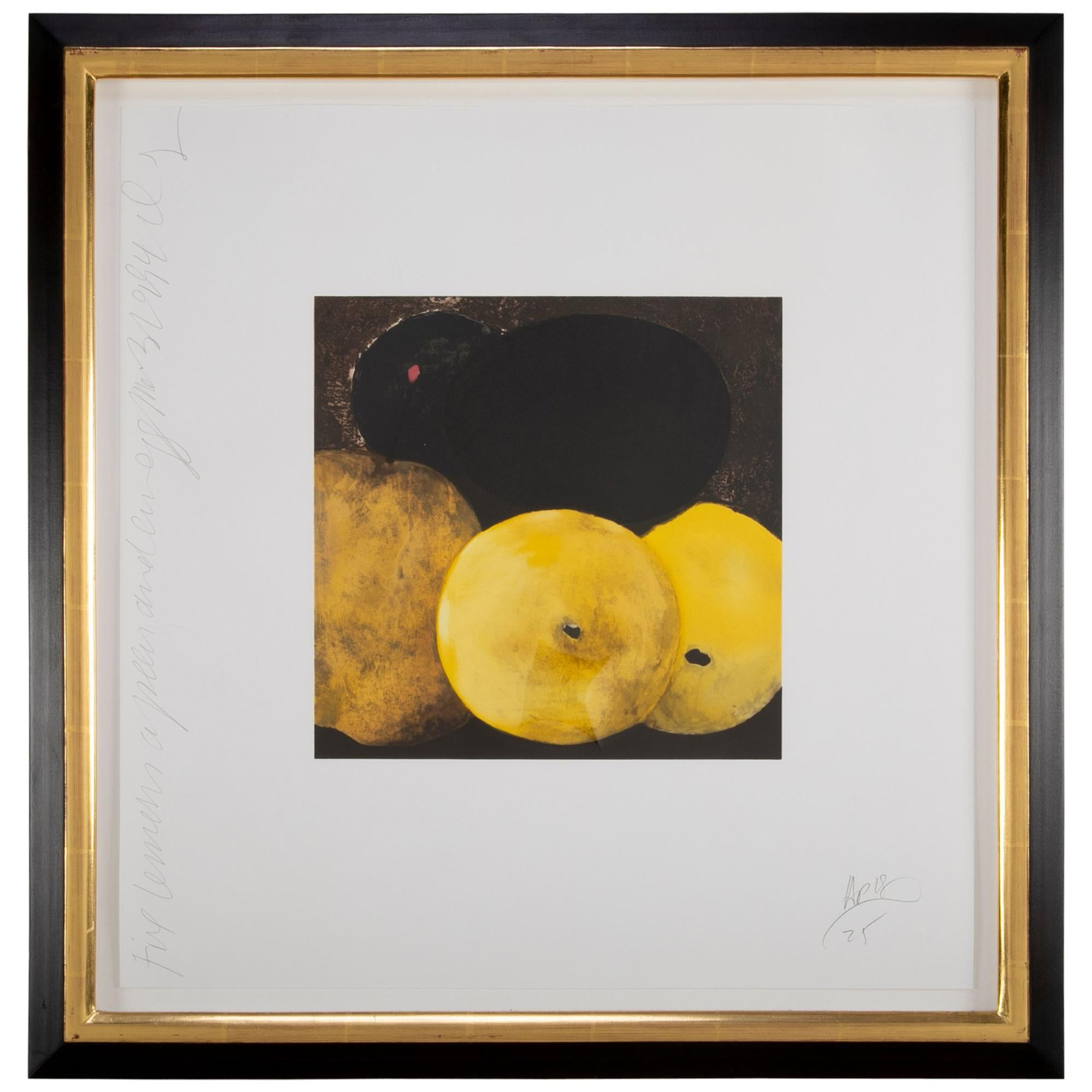 """""""5 Lemons, a Pear and an Egg"""" by Donald Sultan"""