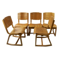 3 Mid Century Bentwood Chairs Attributed to Thonet