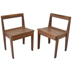 5 Midcentury Teak Chapel Chairs or Bench
