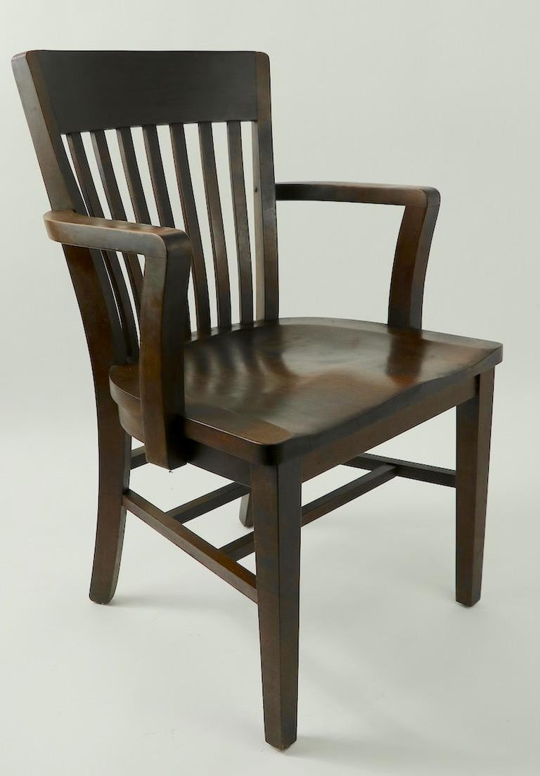 5 Pieces, B. L. Marble Gunlocke Courthouse Office Chairs For Sale 3