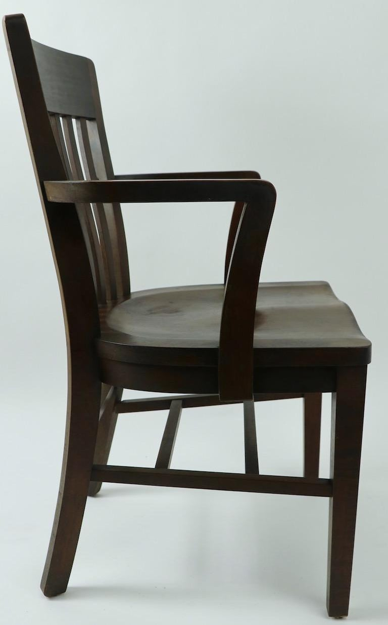5 Pieces, B. L. Marble Gunlocke Courthouse Office Chairs For Sale 4