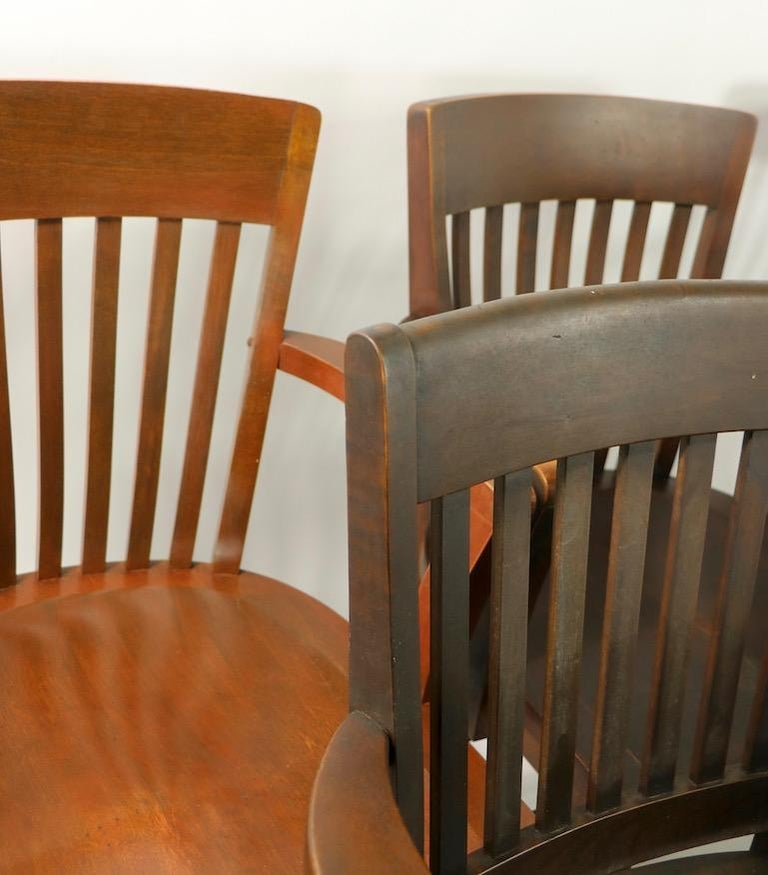 5 Pieces, B. L. Marble Gunlocke Courthouse Office Chairs For Sale 7