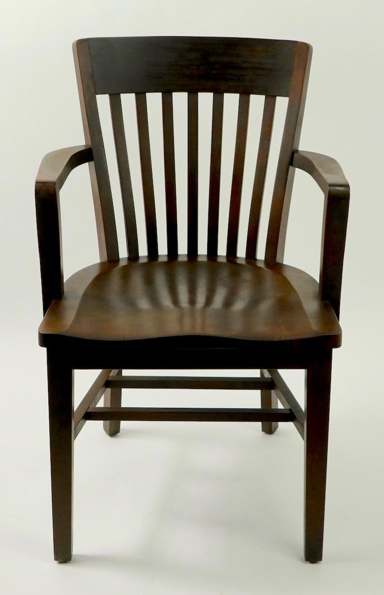 American 5 Pieces, B. L. Marble Gunlocke Courthouse Office Chairs For Sale