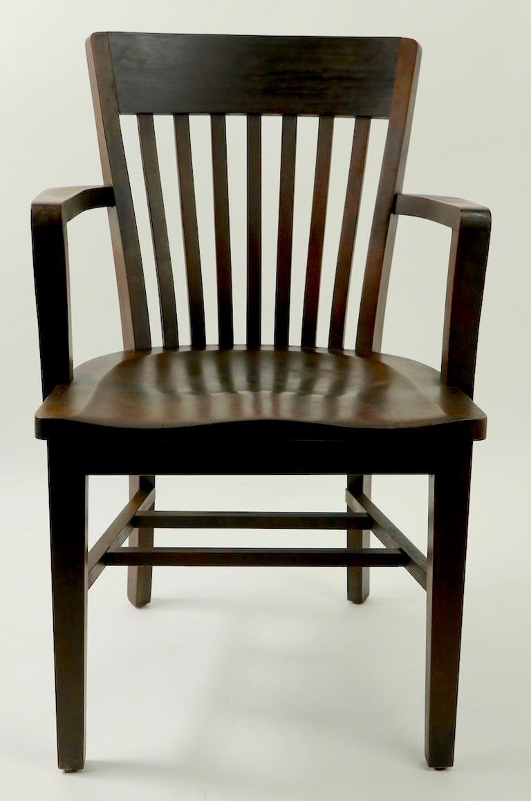 5 Pieces, B. L. Marble Gunlocke Courthouse Office Chairs In Good Condition For Sale In New York, NY