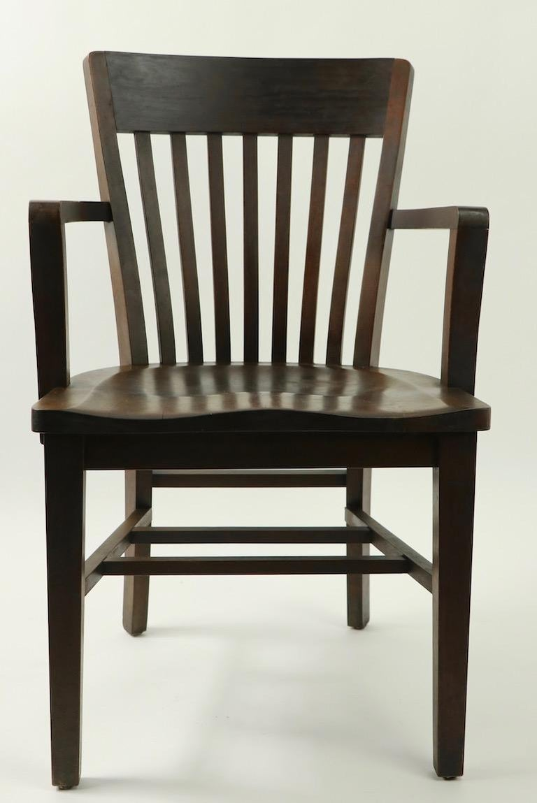 20th Century 5 Pieces, B. L. Marble Gunlocke Courthouse Office Chairs For Sale