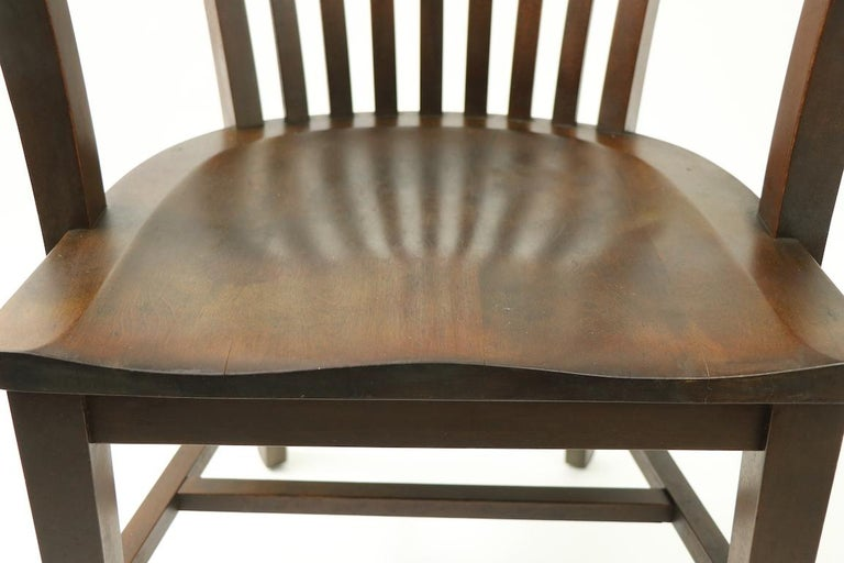 Walnut 5 Pieces, B. L. Marble Gunlocke Courthouse Office Chairs For Sale
