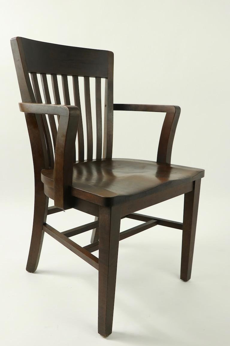 5 Pieces, B. L. Marble Gunlocke Courthouse Office Chairs For Sale 1