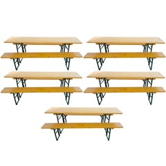 5 Picnic Table Sets from German Beer Garden Halls FREE SHIPPING; many sets avail