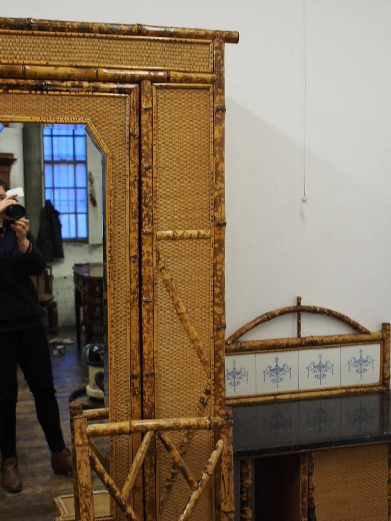 Five-Piece Bamboo and Rattan Bedroom Suite, circa 1890 In Good Condition For Sale In Edinburgh, GB