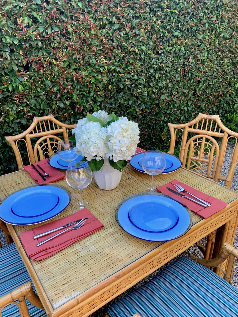 Chinese Chippendale Style Bamboo Game Dining Table and Armchairs For Sale 9
