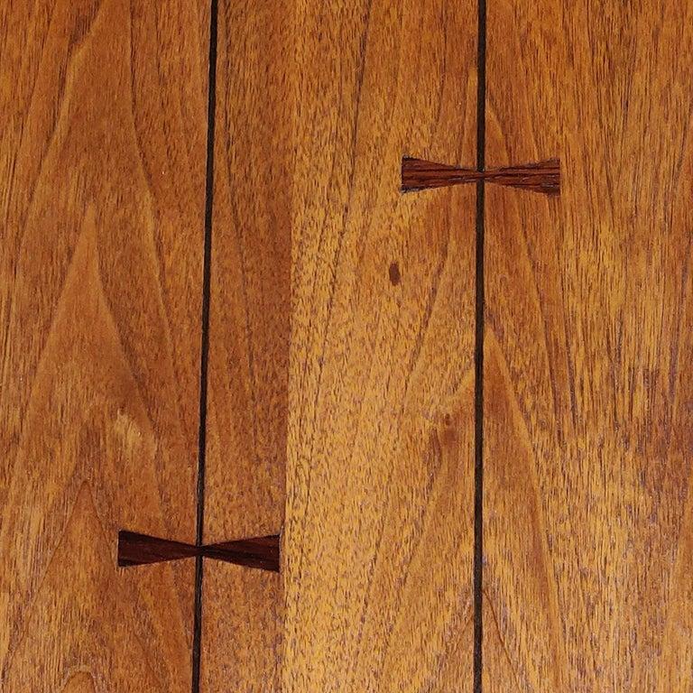 5-Piece Mid-Century Modern Lane Tuxedo Rosewood Bow Tie Bedroom Dresser Set For Sale 3