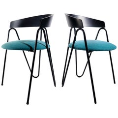 5 Postmodern Memphis Milano Style Chairs from the 1980s