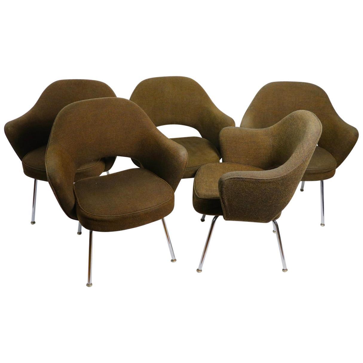 5 Saarinen Executive Chairs for Knoll