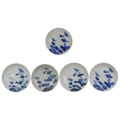 #5 Set Antique 18th-19th Century Japanese Arita Nabeshima Blue White Dishes