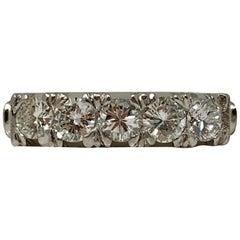 5-Stone Diamond Wedding Ring in Platinum
