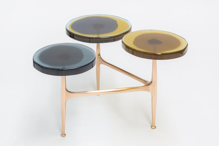 Contemporary 5 Tops Agatha Coffee Table by Draga & Aurel For Sale