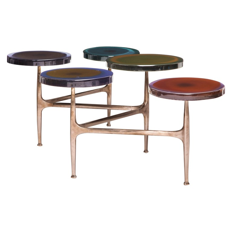 5 Tops Agatha Coffee Table by Draga & Aurel For Sale