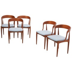 5 Uldum Chairs Model 16, Johannes Andersen