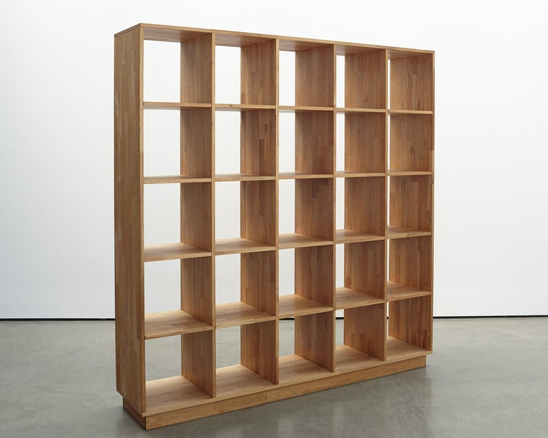 LAXseries' Bookcases provide the ultimate solution for all your storage needs. Each of the piece's twenty-five cubicles creates a fantastic space to house books, art, dishware, vinyl records and more.