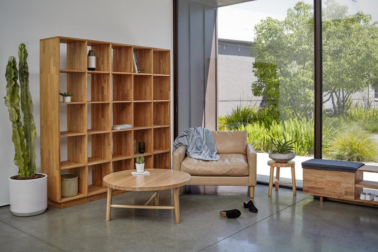 Modern 5 x 5 Bookcase Laxseries by Mashstudios For Sale