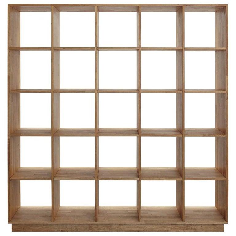 5 x 5 Bookcase Laxseries by Mashstudios For Sale