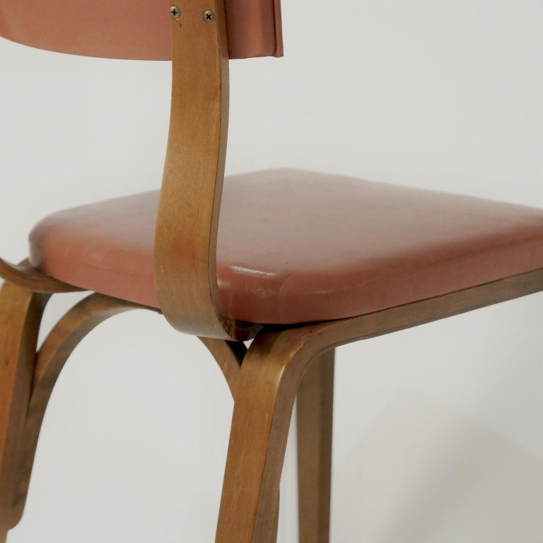 Magnificent 1950S Thonet Bentwood Bent Plywood Dining Cafe Or Desk Chairs 6 Available Uwap Interior Chair Design Uwaporg