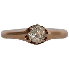 .50 Carat Diamond 14 Karat Yellow Gold Engagement Ring
