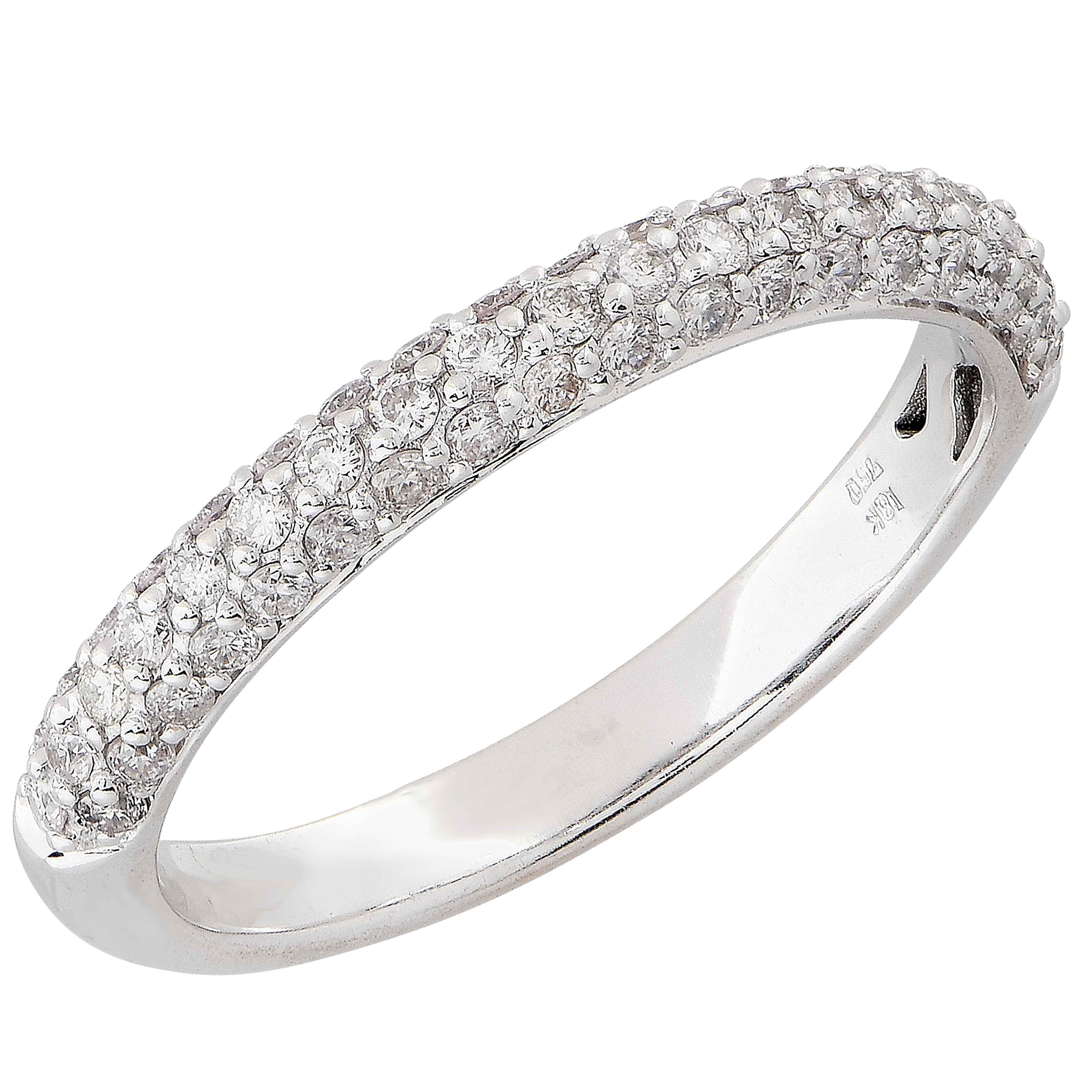 .50 Carat Diamond Band in 18 Karat White Gold