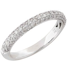 .50 Carat Diamond Band in 18 Karat White Gold