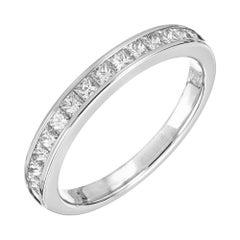 .50 Carat Diamond White Gold Wedding Band Ring
