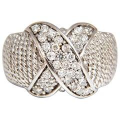 .50 Carat Diamonds X Ring 14 Karat