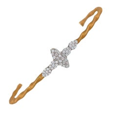 Elegant, .50 Carat Ladies, VS Diamond & Gold Wire Bracelet