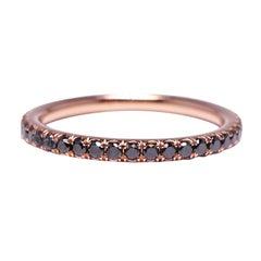 .50 Carat Micro-Pave Diamond Eternity Wedding Band in 14 Karat Rose Gold
